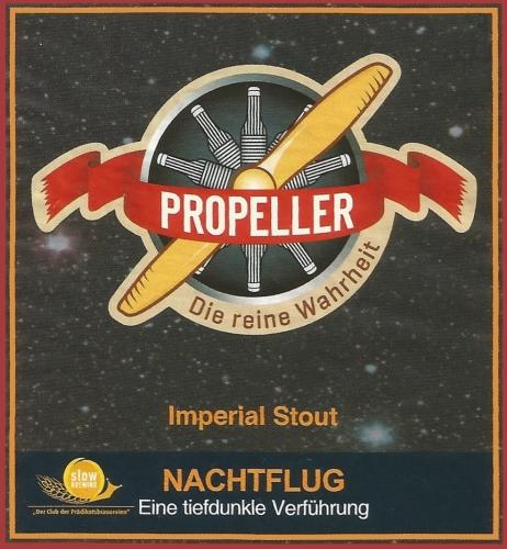 Nachtflug Imperial Stout van de Duitse brouwerij Propellor
