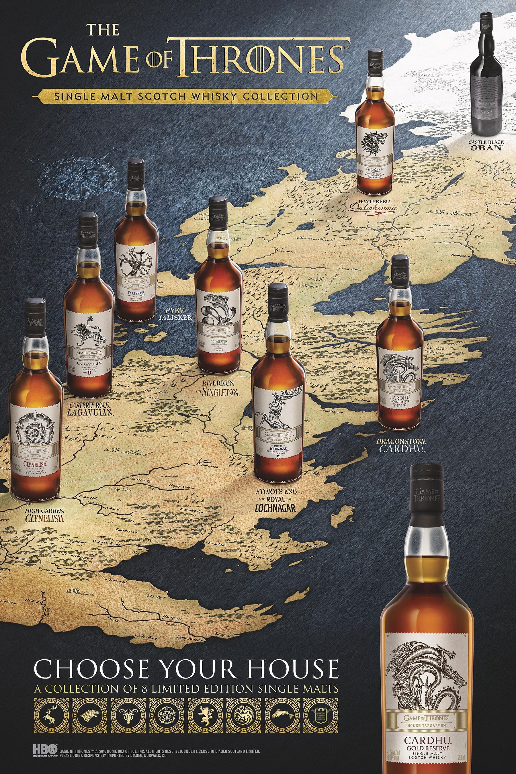 De whisky's van Game of Thrones