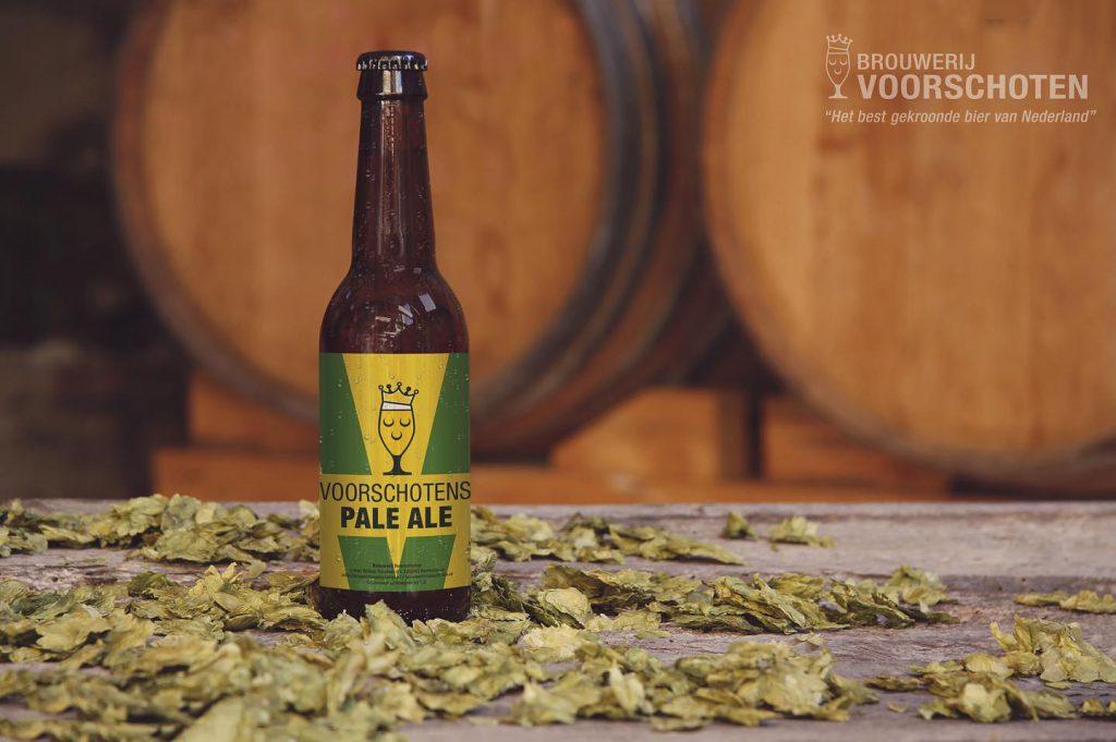 De fles van de Pale Ale van Brouwerij Voorschoten. FSOM