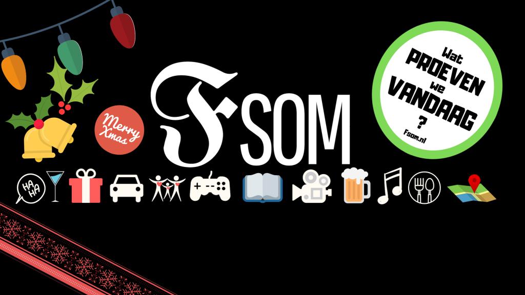 FSOM Wat proeven we vandaag logo vrolijk kerstfeest en een lekkere whisky