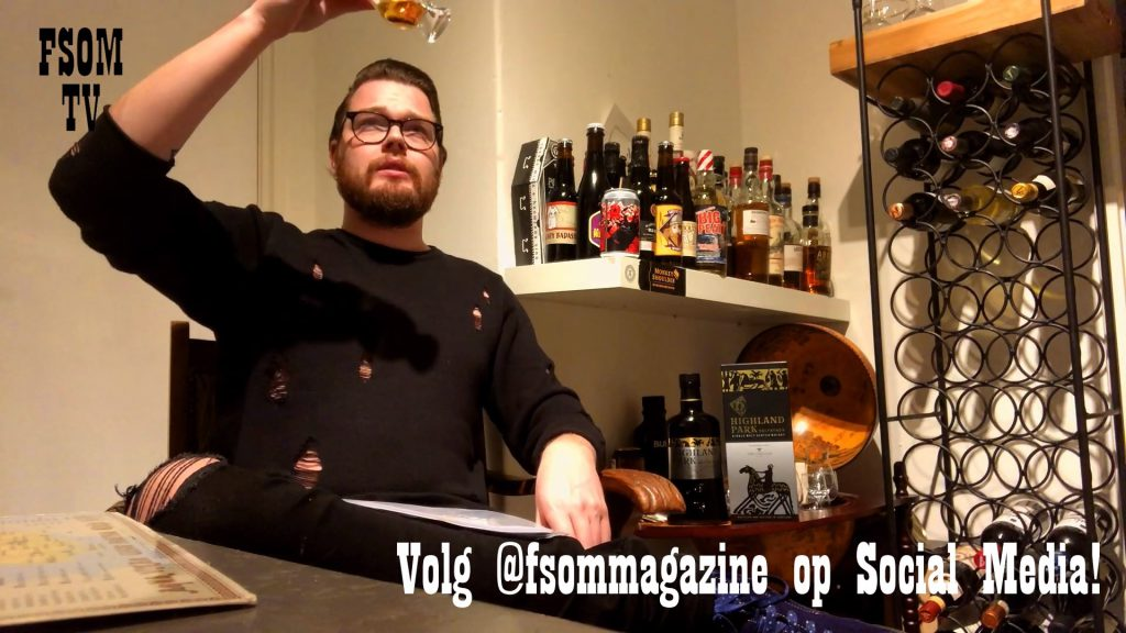 Robbert aka Confessions o a whisky freak proeft Valfather van Highland park op FSOM.