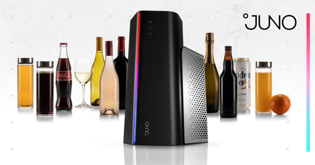 Afbeelding van https://indiegogo.com op fsom. Juno  is de magnetron voor koud bier, wijn en andere drankjes!