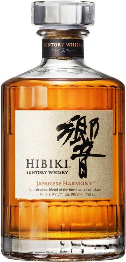 Suntory Whisky Hibiki op fsom. Japanese Harmony. Blend.