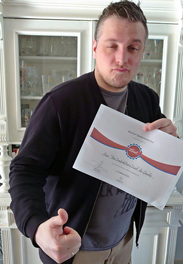 thedutchbeerdad met de bierista budweiser speedcourse diploma fsom magazine