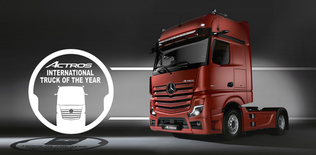 Actros is the international truck of the year 2020 op fsom magazine