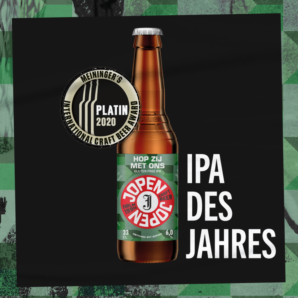 Jopen Hop zij met ons. Het glutenvrije en prijswinnende bier van Jopen uit Haarlem.  FSOM Magazine