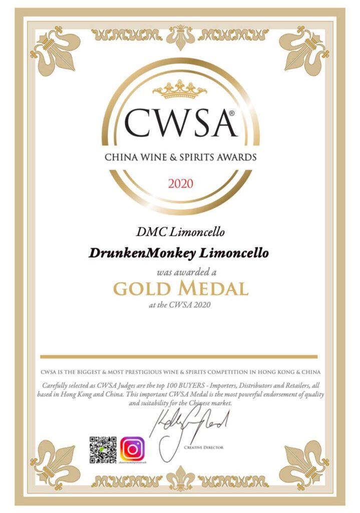 Na Europa verovert Drunken Monkey Limoncello ook China! Bij de CWSA kwam de definitieve bevestiging, de lekkerste Limoncello komt uit Peize in Drenthe! Er werd wederom een gouden medaille gewonnen!  TheDutchBeerDad voor FSOM Magazine