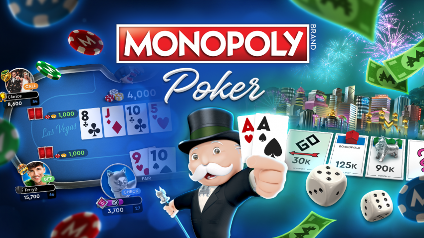 Roll the dice and play Monopoly poker