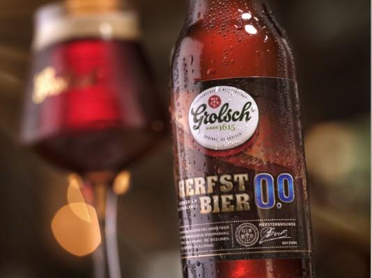 Grolsch begint aan het najaar met alcoholvrij herfstbier