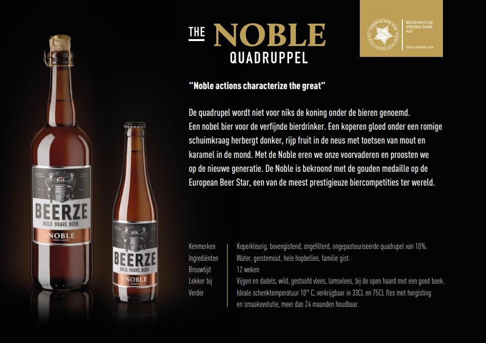 Kleine familiebrouwerij uit  Brabant valt in de prijzen bij de European Beer Star met hun 'Noble' bier! TheDutchBeerdad praat je bij over de bieren van Beerze op FSOM.